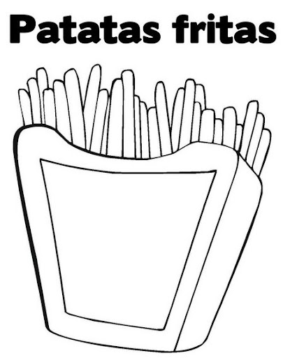 Dibujos para colorear papas fritas - Imagui