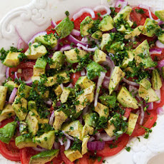 Tomato, Onion, Avocado Salad