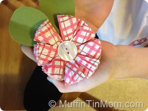 paper cupcake liner flower