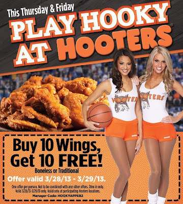 Hooters coupons discounts