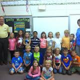 WBFJ Cici's Pizza Pledge - Northwest Elementary - Mrs. Ring's 1st Grade Class - Lexington- 9-17-14