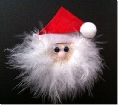 Santa Hair Clippie {A Sprinkle of This . . . . A Dash of That}