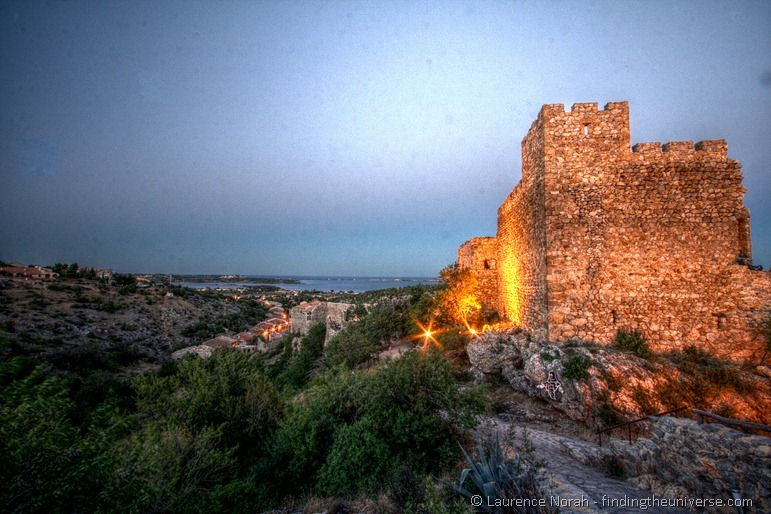 Fitou castle sunset evening