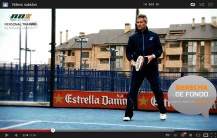 NOX Personal Training 2013, videos de pádel con Miguel Lamperti como modelo.