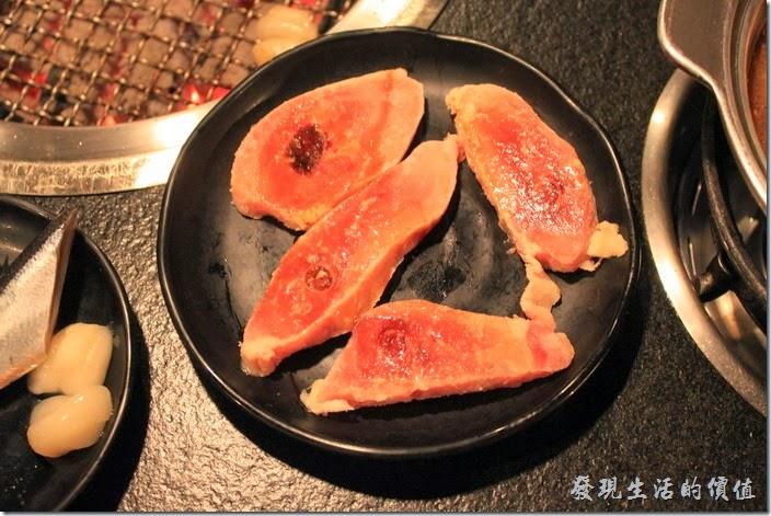 台南-逐鹿焊火燒肉。切片雞腿肉