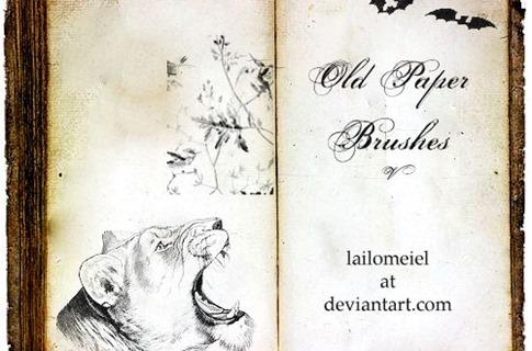 Pinceles de libro antiguo