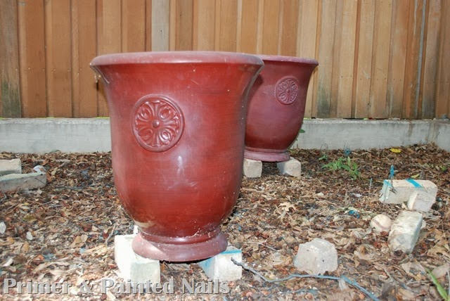 Red Planters - Primer & Painted Nails