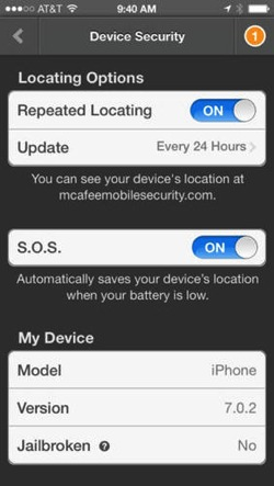 Mcafee security ios app1