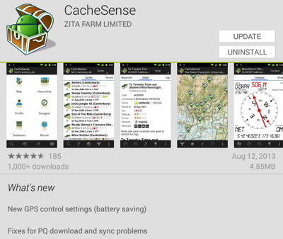 CacheSense version 3.1.18 for Android