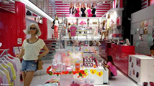 the BARBIE Harajuku store in Japan in Harajuku, Tokyo, Japan