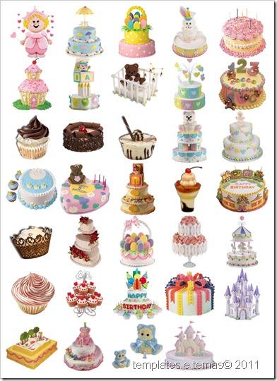 Cliparts de bolos de aniversario