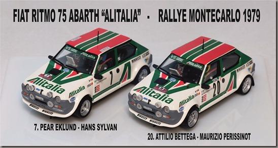 Fiat Ritmo 75 Abarth Alitalia 79