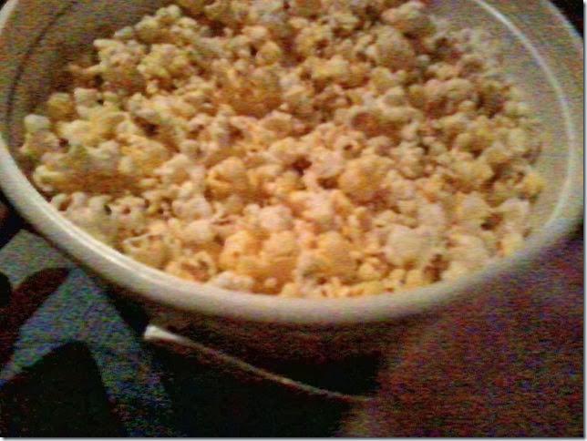 Popcorn at Hobbit movie 12 30 13