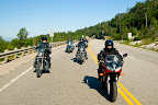 Riding along the Deer Trail Touring Route, in Northern Ontario