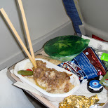 food on the aircanada plane in Chiba, Tokyo, Japan