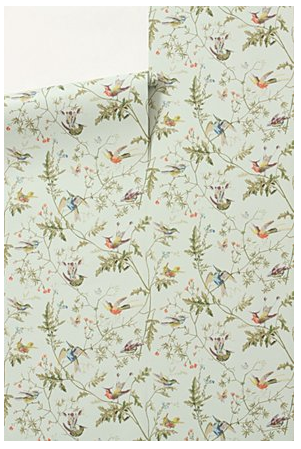 The whimsy and color palette of this pattern don't take away from its sophisticated look. (anthropologie.com)