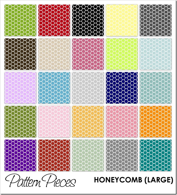 IMAGE - Pattern Pieces - Honeycomb (Large)