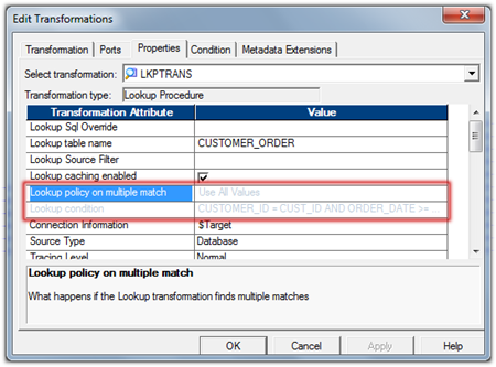 Informatica powerCenter Active Lookup