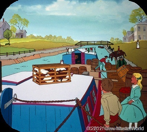 View-Master Westward Expansion (B812), Scene B-1: On the Erie Canal, 1826