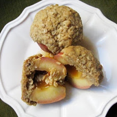 Rum-Filled Baked Apples with Oat Crumble