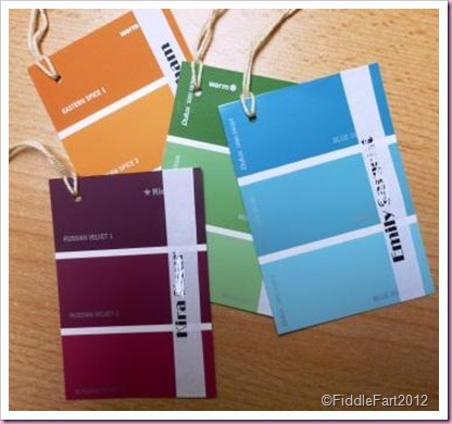 Paint chart tags.