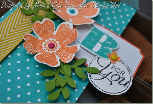 Stampin'Up! Flower Shop Tag a Box gift stack close