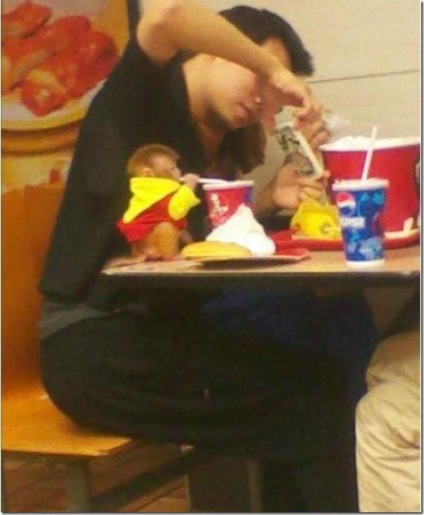 Macaco bebe adora tomar refrigerante (2)