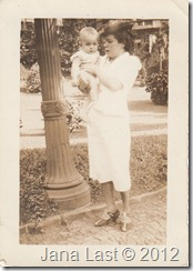 Sarah Vasques Madeira Webster holding Beth Webster February 19, 1939
