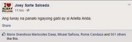 Joey Salceda on Ara Arida