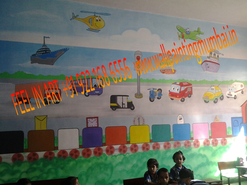 KIDS SCHOOL CLASSROOM WALL MURALS MALAD / JOGESHVARI / GOREGAON / MUMBAI Part 20