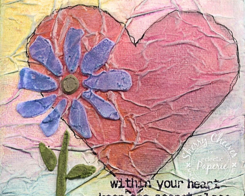 WithinYourHeartCanvas CloseUPTexture