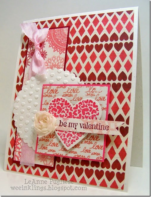 LeAnne Pugliese WeeInklings Valentine PS I Love You Stampin Up