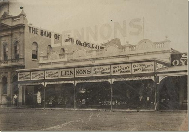 Lennons clothing store in Townsville 1913