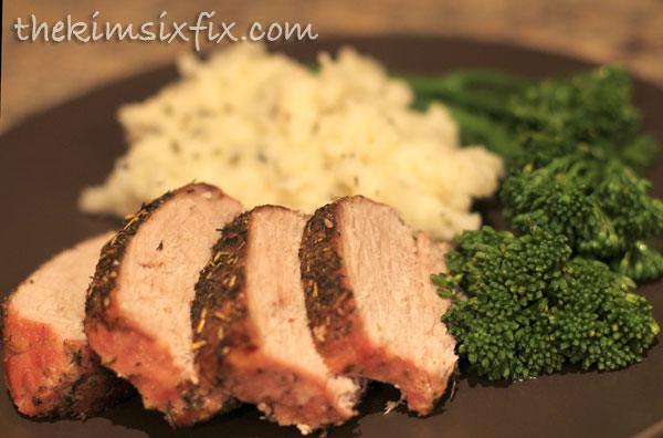 Rosemary sage pork loin