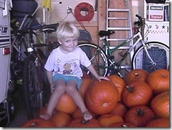 10.26.01 - Will on Pumpkins