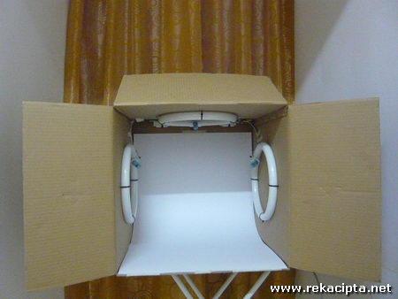 Rekacipta.net - peti cahaya light box yang telah siap