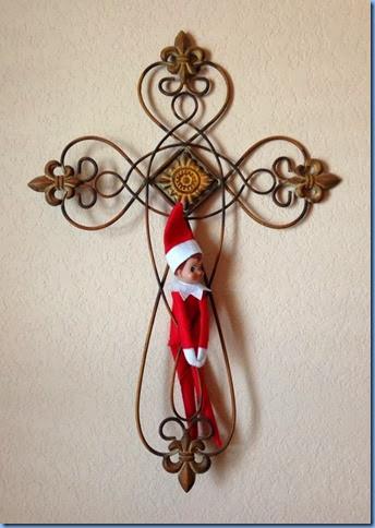 crucified elf