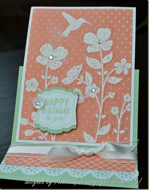 Stampin 'Up! Wildflower Meadow Double embossing_