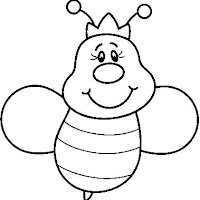 dibujos de divertidas abejas para colorear