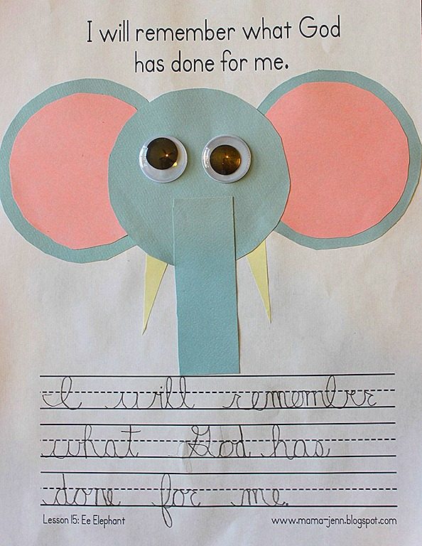 My Father&#39;s World Kindergarten Words to Remember: Ee for Elephant