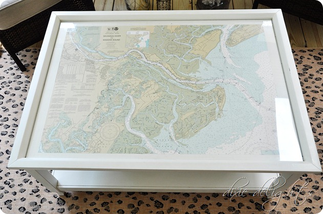 - Coffee Table Nautical Chart {Porch Projects} - Dixie Delights