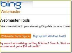 mendaftarkan atau submit blog di bing dan yahoo