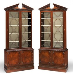 Arthur Brett - Early George III -style custom made bookcases