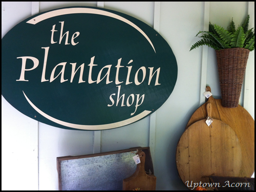 Plantation Shop sign