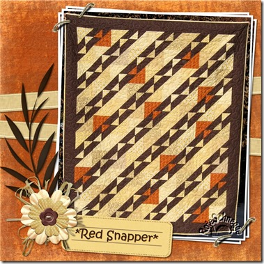 Quilt054-Red Schnapper