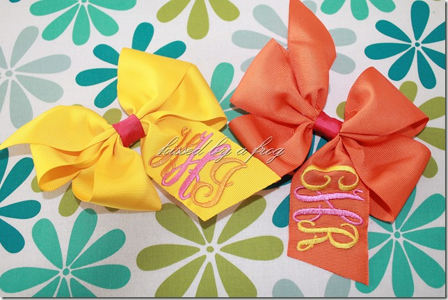 interlock monogram boutique bow kissed by a frog custom