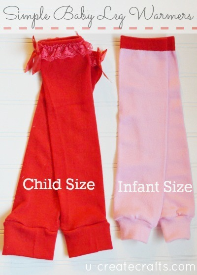 Simple Baby Leg Warmers Tutorial...infant and child sizes! www.u-createcrafts.com