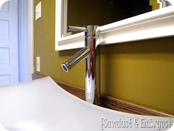 Simple Instructions for Installing a Vessel Sink Faucet {Sawdust and Embryos}