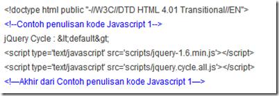 Identifikasi elemen javascript satu