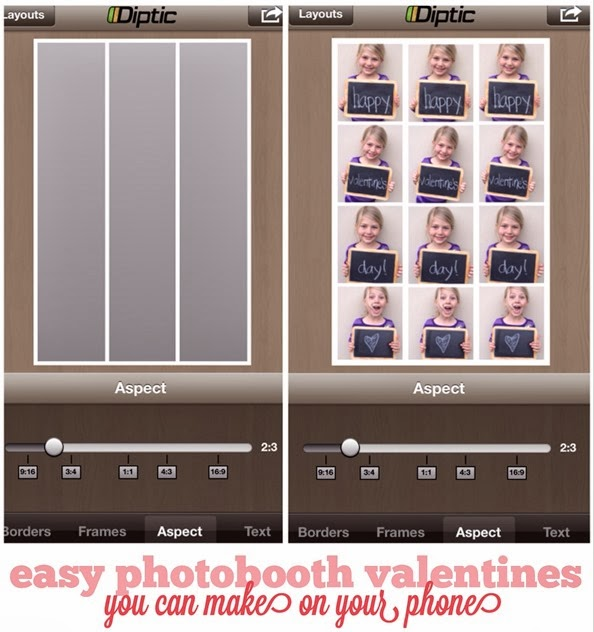 easy photobooth valentines you can make using an app on your phone!